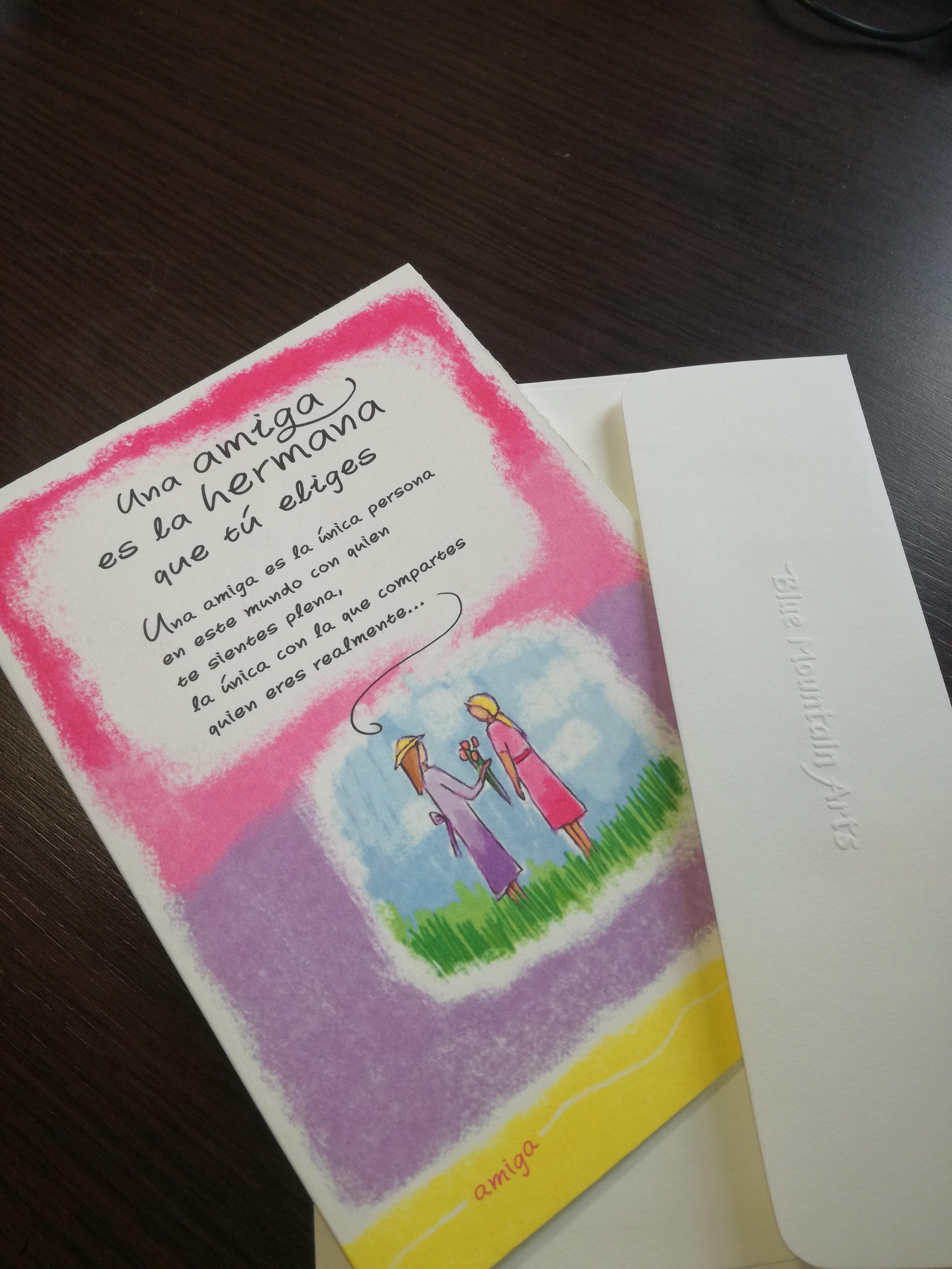 tarjetas para amigas del alma