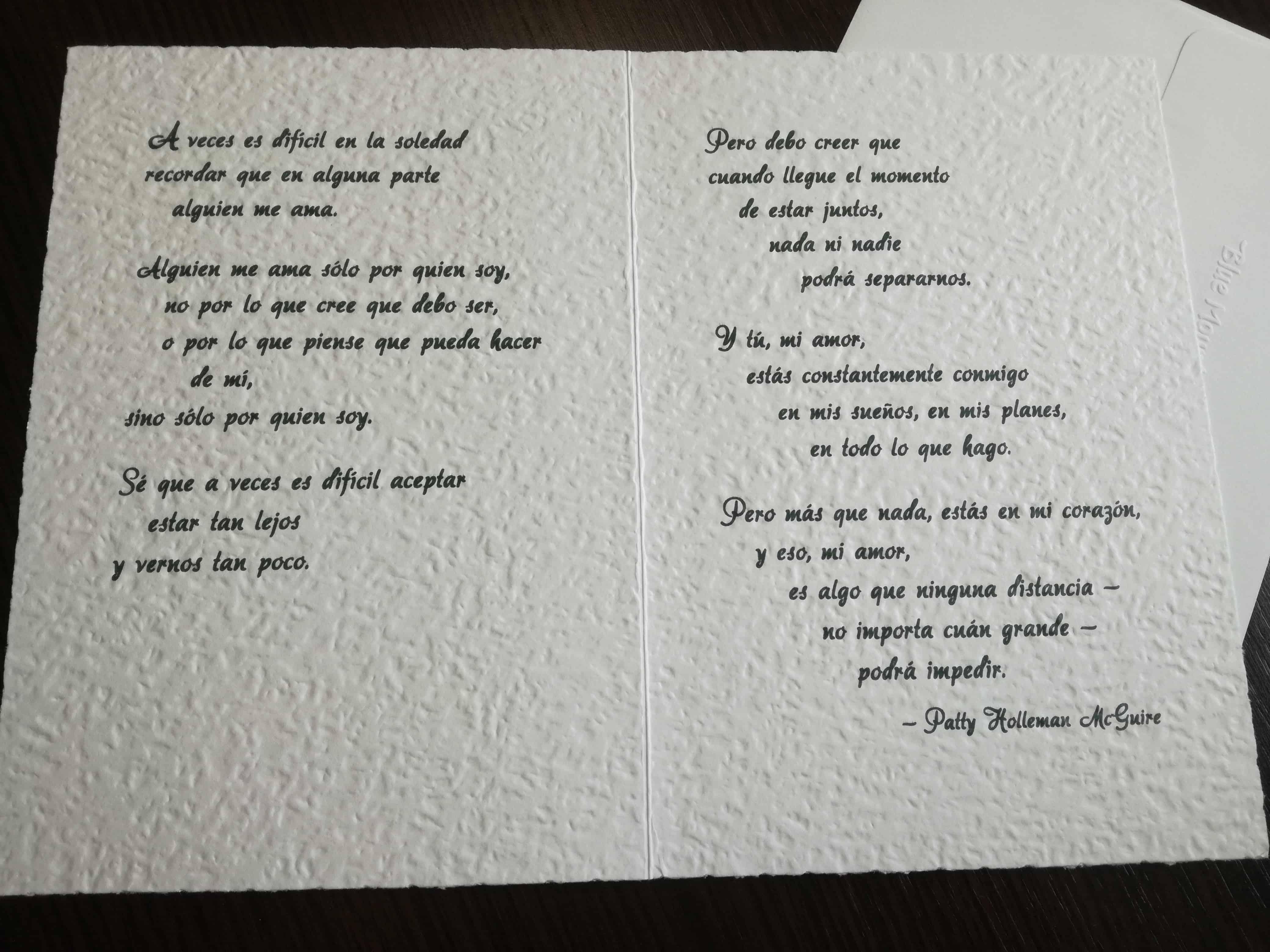 tarjetas para la pareja que esta lejos