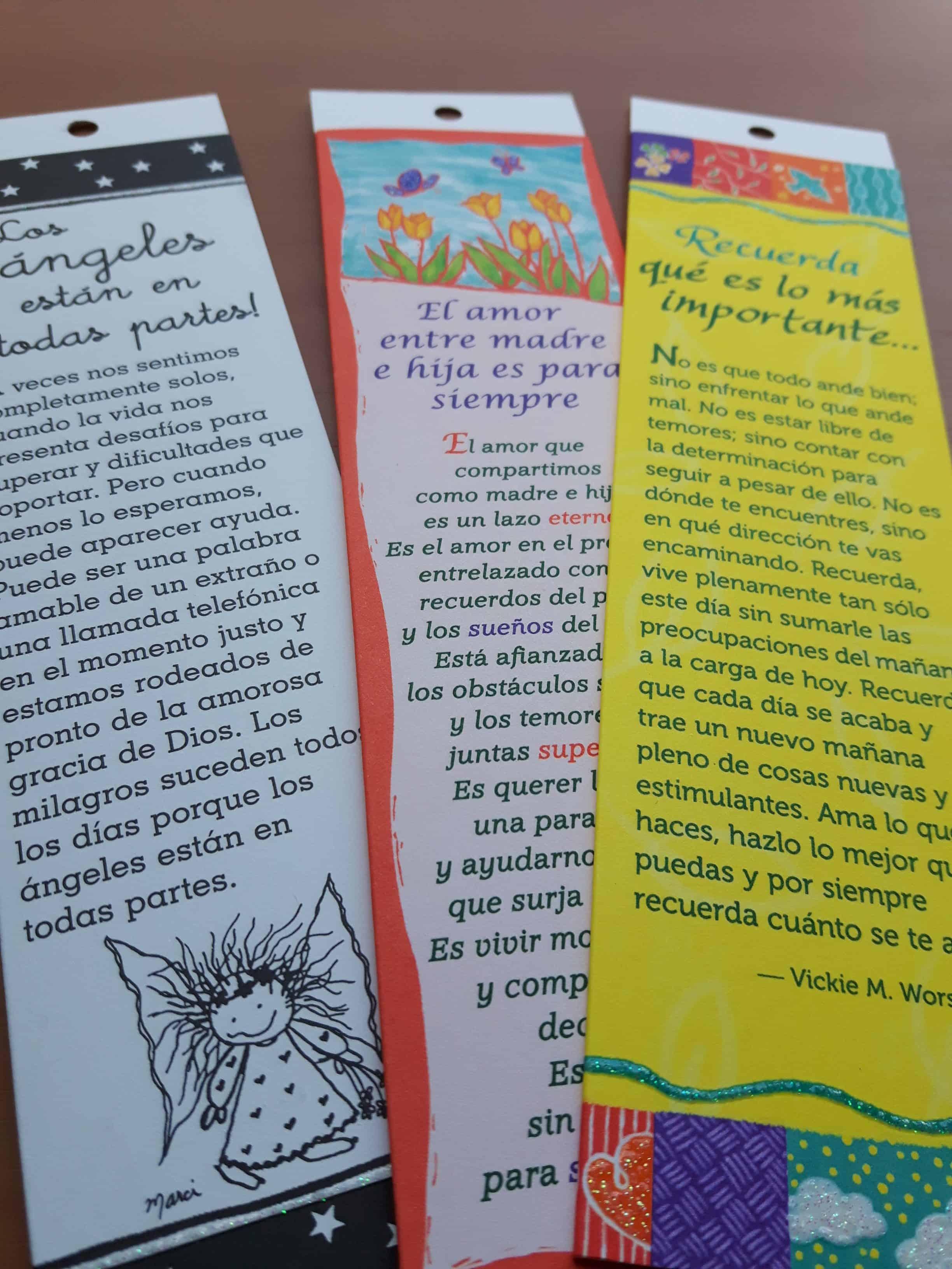 Separadores ó Marcadores De Libros Con Frases Motivadoras